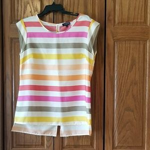 • The Limited • Sherbet Colors Striped Top